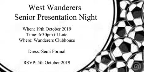 West Wanderers FC Senior  Gala tickets