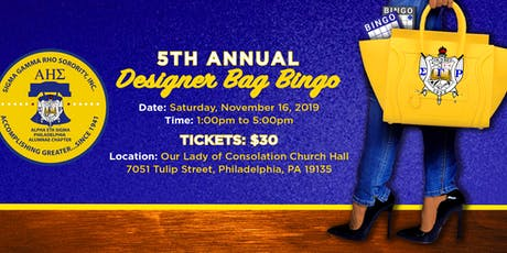 5th Annual Designer Bag Bingo tickets