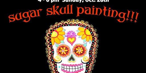 4th Annual SUGAR SKULL Paint 'n Sip Class