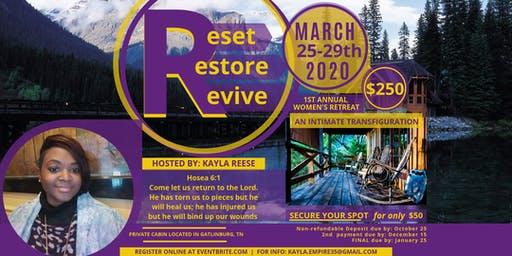 ReSet ReStore ReVive : Transfiguration