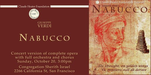 Giuseppe Verdi's NABUCCO concert version of complete opera with full orchestra and chorus