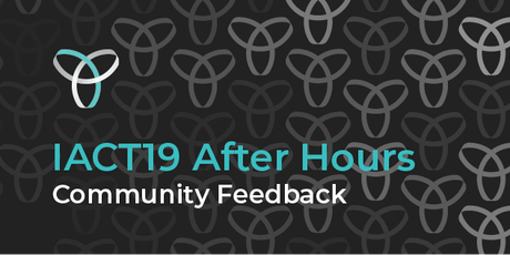 InnovationACT 2019: After Hours - Community Feedback tickets