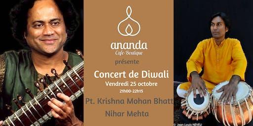 Concert Sitar et chant Folklorique  avec Maestro Krishna Mohan Bhatt