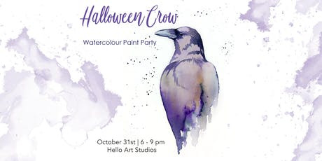 Halloween Crow - Watercolour Paint Party tickets