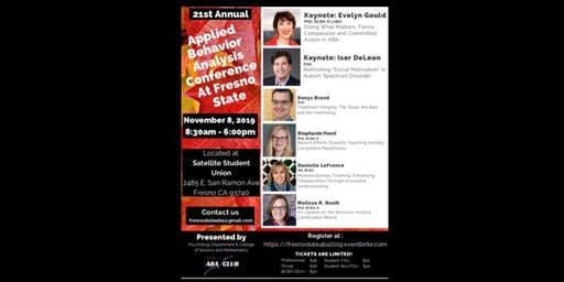 21st Annual Fresno State Applied Behavior Analysis Conference