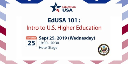 EdUSA 101: Intro to U.S. Higher Education (Sept 25)