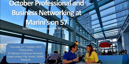October Business Networking @ KL's most Iconic Rooftop Bar, Marini's on 57
