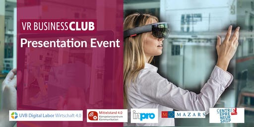 VR Business Club Presentation-Event: SparX Industrie 4.0 & SparX Digitaler Mittelstand