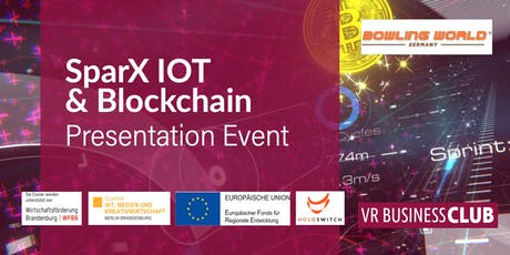 VR Business Club SparX Presentation-Event: IOT & Blockchain Tickets