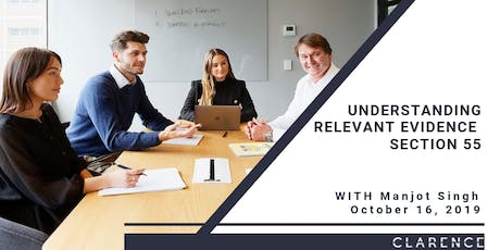 Dhillon Legal Presents CPD: Understanding Relevant Evidence - Section 55 tickets