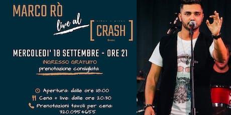 Marco Rò live al Crash Roma biglietti
