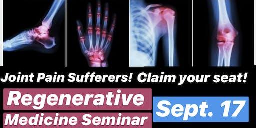 Regenerative Therapy Seminar / FREE Dinner 9/17