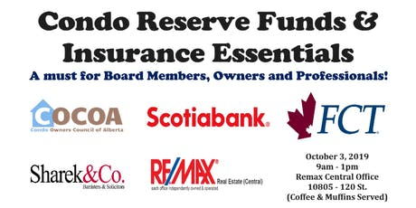 Condo Reserve Funds, Banking & Insurance Essentials tickets