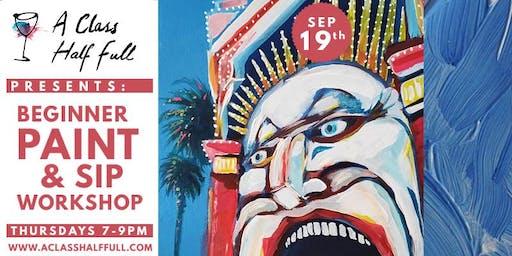 """SEP 19 """"Luna Park"""" Paint and Sip Workshop"""