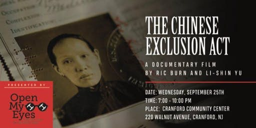 Open My Eyes Film Showing and Discussion -- The Chinese Exclusion Act