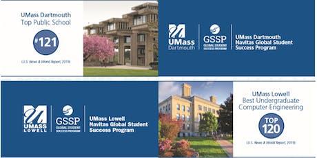 Meet US Universities for PG options including UMass Dartmouth, UMass Boston tickets