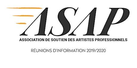 ASAP - Réunion d'information billets