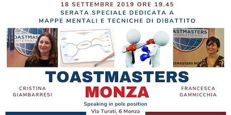 Toastmasters Monza - Serata speciale -Mappe mentali e tecniche di dibattito biglietti
