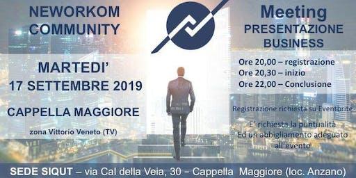 MEETING PRESENTAZIONE BUSINESS - NEWORKOM COMMUNITY - CAPPELLA MAGGIORE