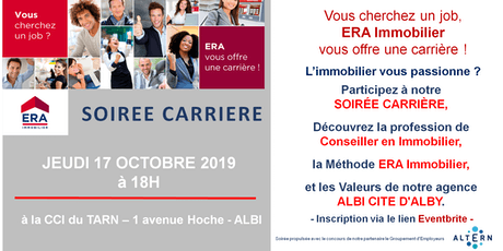 SOIREE CARRIERE ERA IMMOBILIER CITE D'ALBY billets