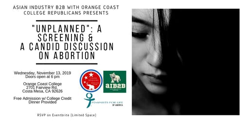 "AIB2B/OCC CR ""Unplanned Screening & Candid Discussion on Abortion"""