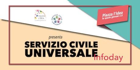 Piazza l'Idea presenza il Servizio Civile Universale biglietti