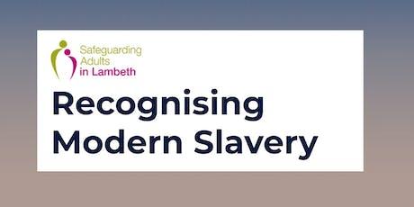 Recognising modern slavery tickets