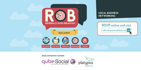 Ballarat - Referrals over Breakfast (RoB) tickets