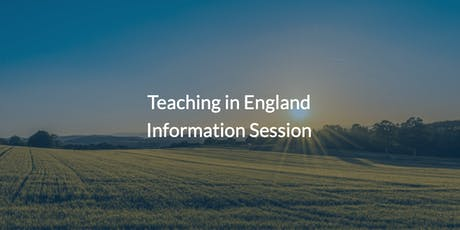 Teaching in England - Information Session tickets