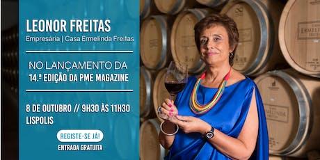 Lançamento 14.ª edição da PME Magazine com Leonor Freitas bilhetes