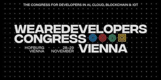 WeAreDevelopers Congress Vienna 2019 - AI, Cloud, Blockchain & IoT