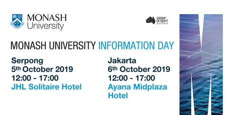 Monash University Information Day Jakarta tickets