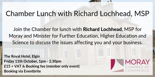 Chamber Lunch with Richard Lochhead, MSP