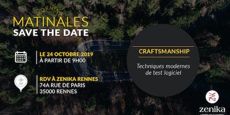 Matinale Craftsmanship - Rennes billets