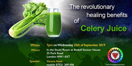 The revolutionary healing benefits of Celery Juice, Omega Talk Series tickets