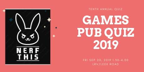 Games Pub Quiz 2019 tickets