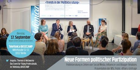young+restless »Neue Formen politischer Partizipation – Präsentation der Public Affairs Studie 2019« Tickets
