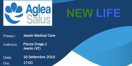 Presentazione aziendale progetto NEWLIFE di AGLEA SALUS MUTUA -Jesolo biglietti