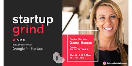 Startup Grind hosts Donna Benton - Founder, The Entertainer