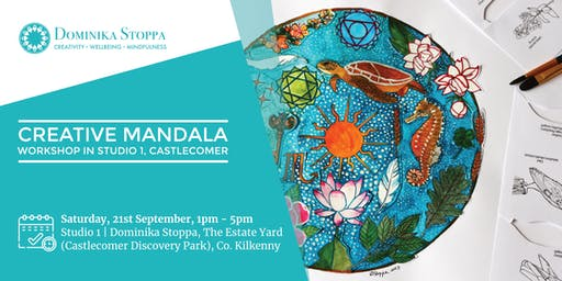 Creative Mandala Workshop in newly opened Studio 1, Castlecomer Craft Yard