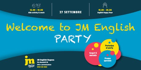 Welcome to JM English PARTY - Ragusa biglietti