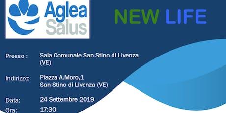 Presentazione aziendale progetto NEWLIFE di AGLEA SALUS MUTUA -S.Stino Liv. tickets