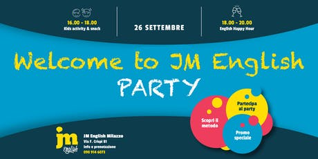 Welcome to JM English PARTY - Milazzo biglietti