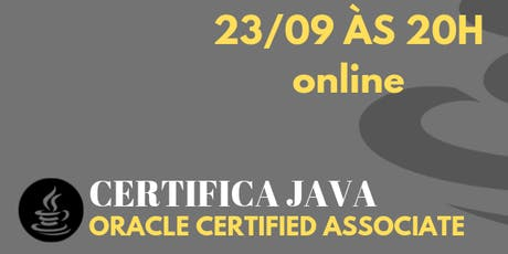 Certificação Java bilhetes