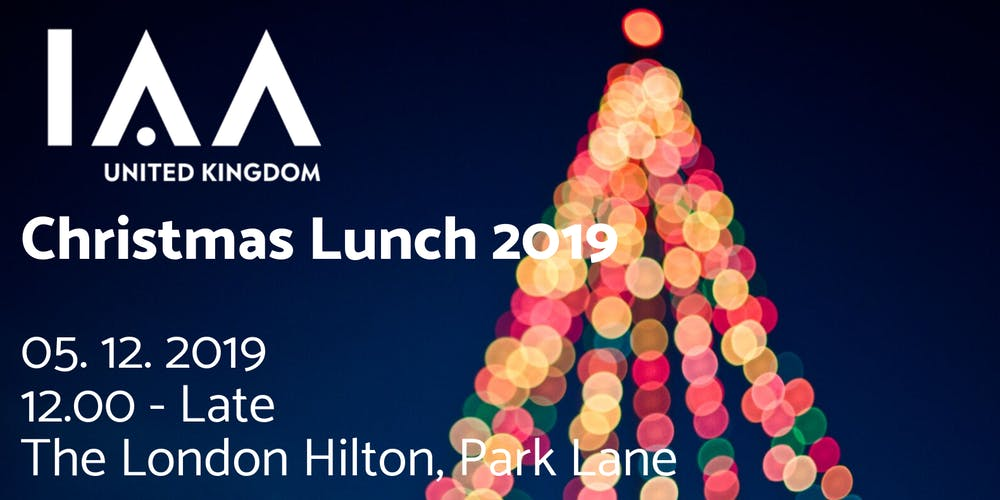 United Kingdom Christmas.The Iaa Uk Christmas Lunch 2019 Tickets Thu Dec 5 2019 At