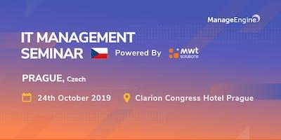 ManageEngine IT Management Seminar - Czech