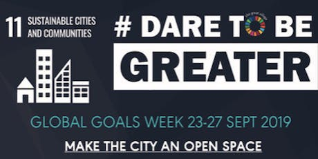 SDG #11 : Make the city an Open Space  tickets