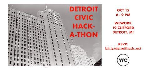 Detroit Civic Hackathon: October Edition tickets