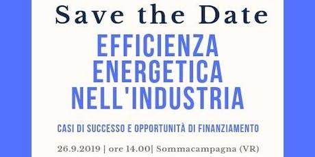 EFFICIENZA ENERGETICA NELL'INDUSTRIA - CASI DI SUCCESSO ED OPPORTUNITÀ biglietti