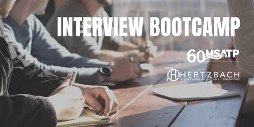 Interview Bootcamp For Tax & Accounting Job Seekers & Students